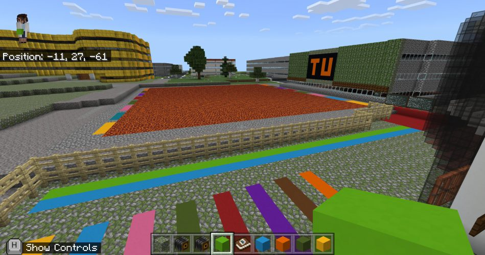 The Teesside University Campus in Minecraft: Education Edition