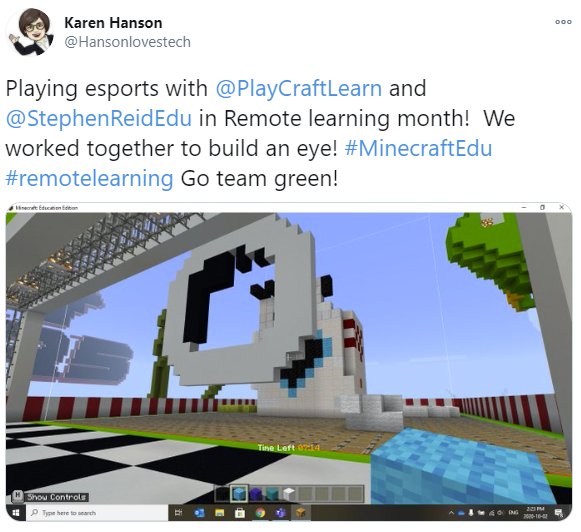 A tweet from Karen Hanson reading